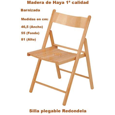 silla de madera plegable silla plegable de madera de haya barnizada mod redondela