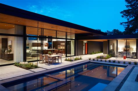home architect design glass wall house by klopf architecture