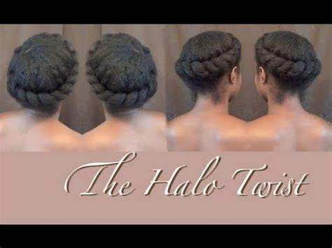 natural hair twist  halo crown braid nik scott youtube