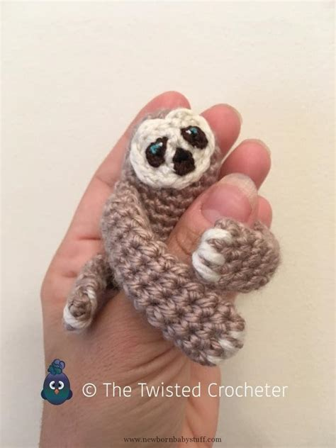 Animal Pattern Baby Name baby knitting patterns crochet amigurumi baby finger sloth