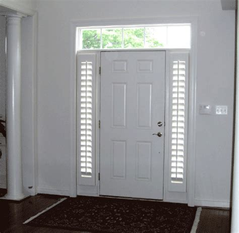 Front Door Sidelight Coverings Sidelights With Shutters Png
