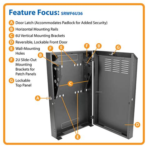 smartrack 6u wall mount rack enclosure cabinet smartrack 6u low profile vertical mount server depth wall