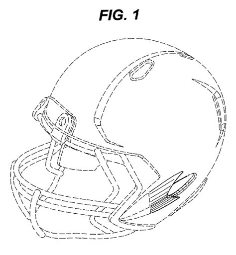 helmet design patents riddell sues rawlings for infringement of design patent