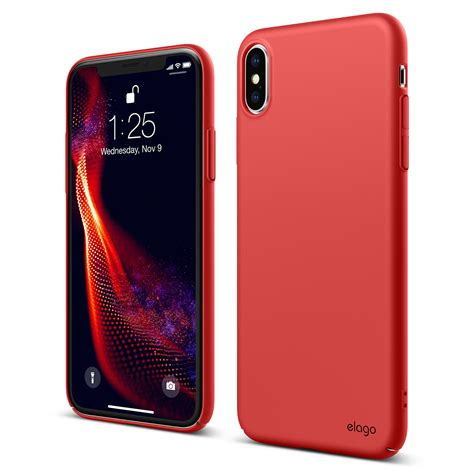 slim fit  iphone xs max red elago slg design
