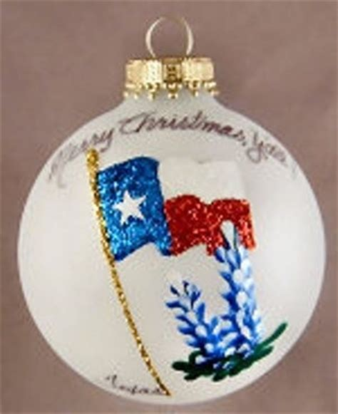 ornaments tx painted ornaments state flag with