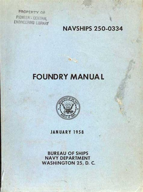 pattern making and foundry pdf foundry manual historic naval ships association