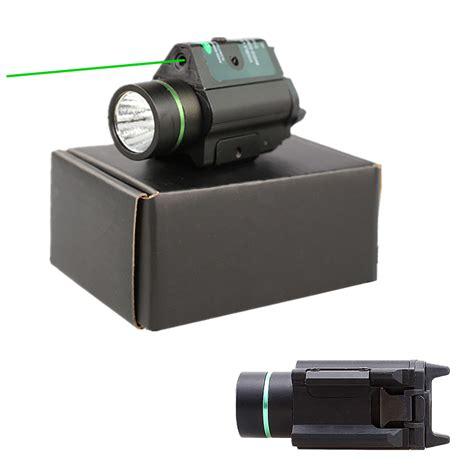 pistol laser light combo tactical led pistol flashlight green laser combo handgun