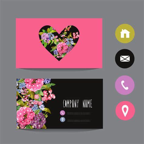 flower shop business card template free flower business card template with society icons vector 11