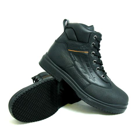 slip resistant boots for genuine grip s slip resistant waterproof steel toe
