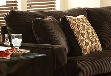 Big Sofa Pillows Viva Chocolate Fabric Modern Sectional Sofa W Large Back Pillows