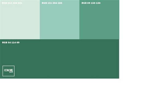 Parete Color Petrolio by Abbinamento Diverse Tonalit 224 Di Verde Abbinamenti Colore