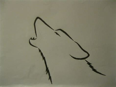 Simple Wolf Outline by Howling Wolf Outline By Kill The Zombie67 On Deviantart