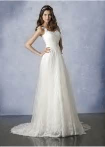 wedding dresses with straps simple a line wedding dress with straps ipunya