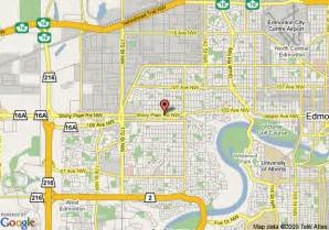 map of howard johnson hotel edmonton ab edmonton