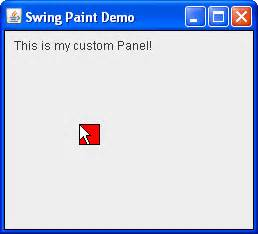 java swing repaint creating the demo application step 3 the java