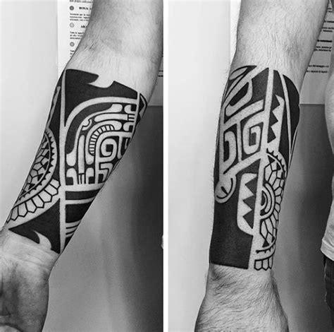 60 Tribal Forearm Tattoos For Men Manly Ink Design Ideas Bold Tribal Forearm