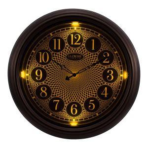 Lighted Outdoor Clock 403 3246br 18 Inch Indoor Outdoor Lighted Clock La Crosse Technology