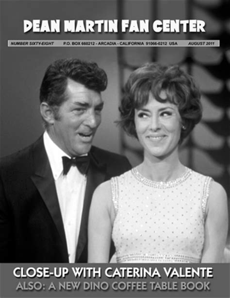 caterina valente fanclub dean martin fan center magazine feat caterina valente