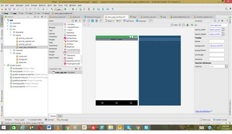 Android Studio Layout Toolbar   toolbar rendering on android studio stack overflow