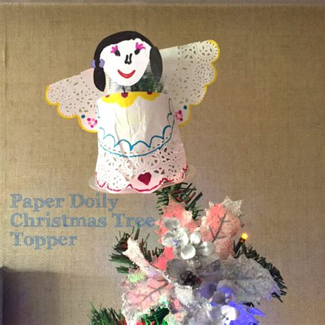 tree topper crafts imaginary friends and a paper doily tree topper