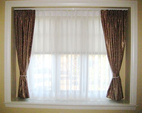 And Curtains B0032 Inset Window Curtain And Sheer Track Installation