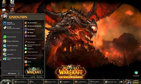 theme windows 7 world of warcraft world of warcraft desktop theme youtube