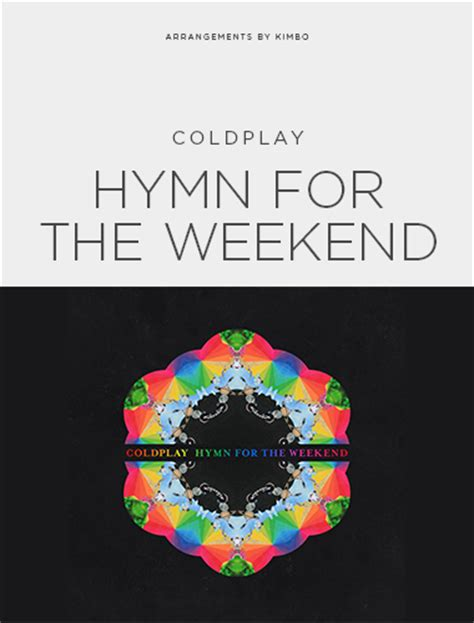coldplay hymn for the weekend lyrics coldplay quot hymn for the weekend quot sheet music freebird notes