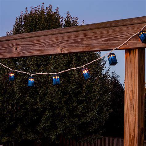 Doctor Who Tardis String Lights Thinkgeek Tardis String Lights