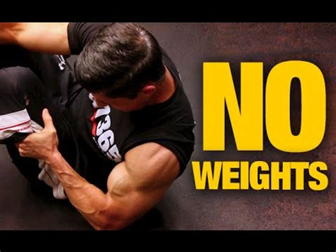 bodyweight home arms workout no weights needed