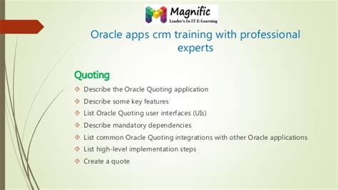 Oracle Tutorial For Experts | oracle crm on demand administration essentials oracle crm