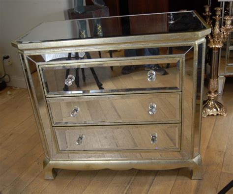 Mirror Chest Drawers by Deco Mirrored Italian Chest Drawers Commode Cabinet Ebay