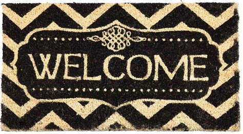Decorative Welcome Mats coco coir decorative welcome backed doormat 16 x 28