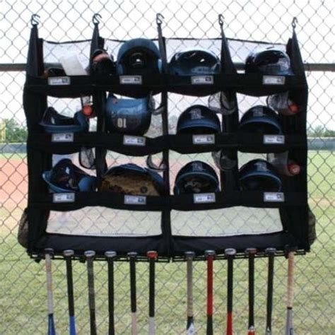 the bench coach dugout organizer helmet bat rack r12x