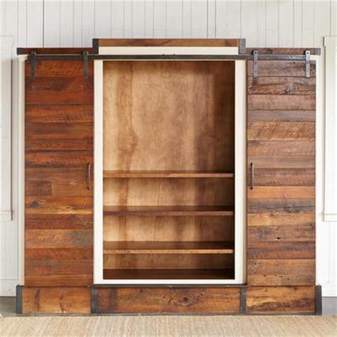 sliding barn door wall cabinet sliding door wall cabinet pottery barn