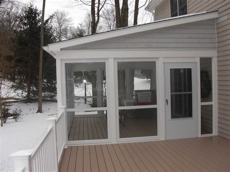 enclosed porch plans enclose your screen porch custom decks of fairfield