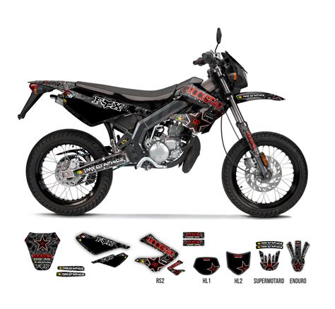 Rockstar Moped Aufkleber by Derbi Senda 50 R Sm Rockstar Fox Graphics Series Tmx