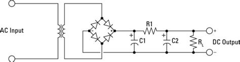 resistor filter circuit how power supplies filter rectified current in electronic circuits dummies