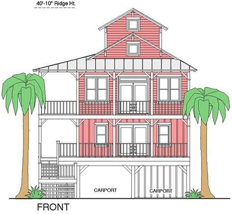 inverted living coastal home plans bonner bay cottage ii favorite