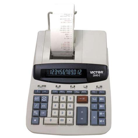 calculator quick key victor 2640 2 12 digit heavy duty 2 color printing