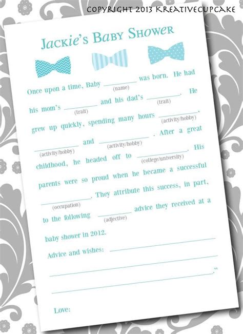 Baby Boy Shower Mad Libs Free by 42 Best Baby Shower Activities Images On