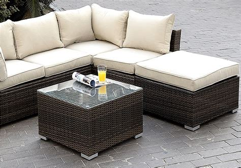 wicker outdoor sectional outdoor sectional sofa set rushreed 3 outdoor sectional