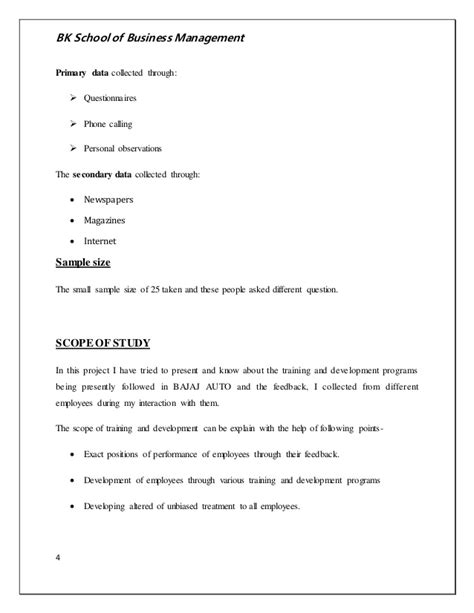 And Development Pdf For Mba by And Development Of The Employees In Bajaj Auto