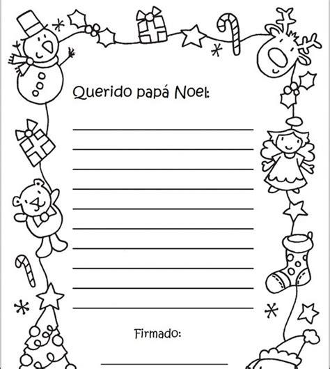 imagenes reyes magos y papa noel cartas navide 209 as para imprimir para ni 209 os a papa noel