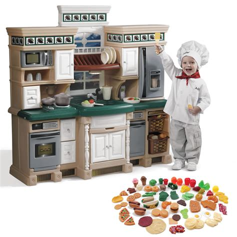 Kitchen Play Food by Lifestyle Deluxe Kitchen With Play Food Set