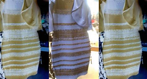 the dress is blue and black says the girl who saw it in white and gold white and gold or blue and black science