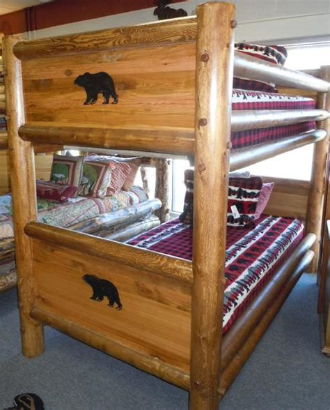 bradley s furniture etc utah rustic bear paw barnwood bear paw barnwood panel tw tw bunk