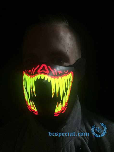 Masker Led masker led lights creepy smile dc s special