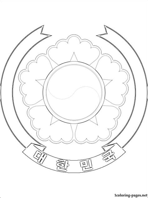 south korea coat of arms coloring page coloring pages
