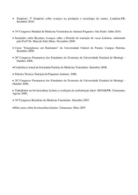 Modelo Curriculum Vitae Veterinario Curr 237 Culo M 233 Dico Veterin 225 Filipe Maia Julho 2014