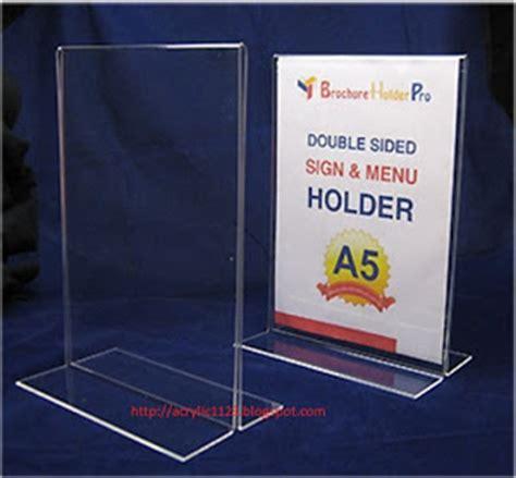 Display Menu Akrilik Brosur Akrilik jasa pasang pembuatan acrylic 24 jam murah design